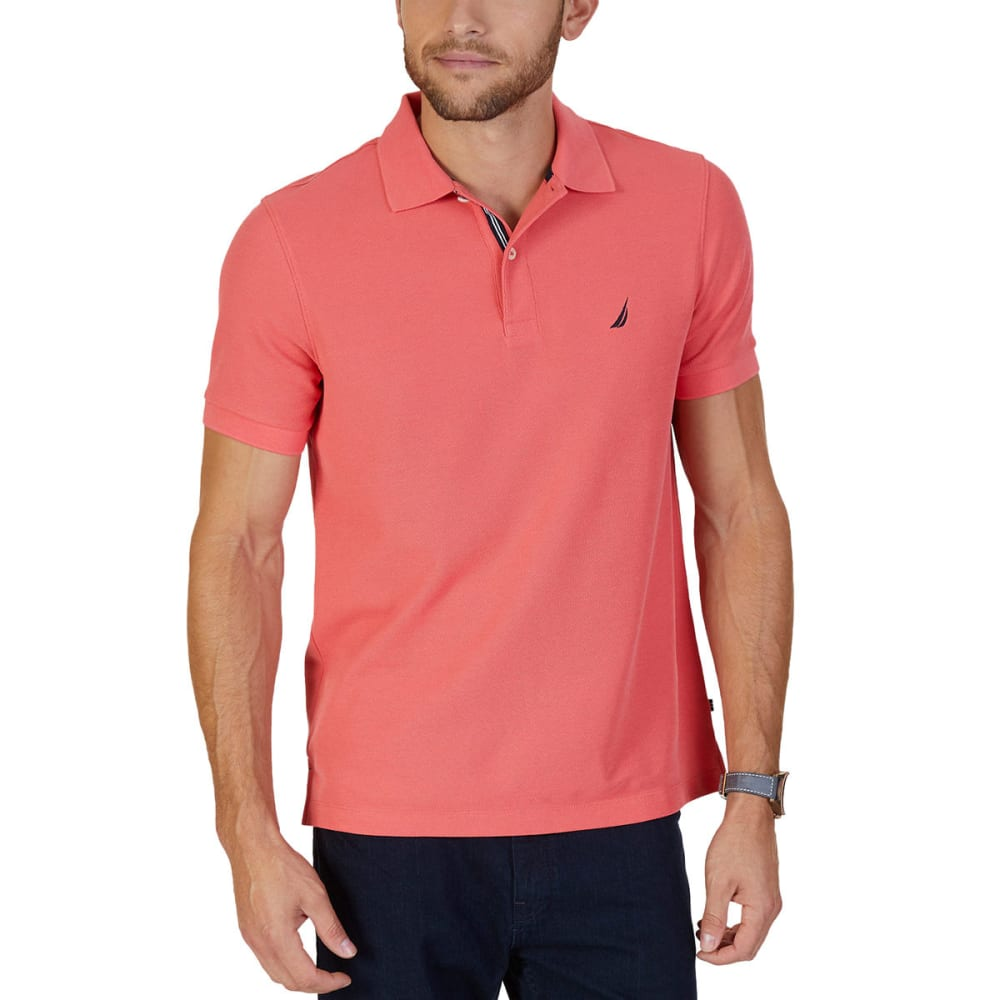 NAUTICA Men's Solid Deck Short-Sleeve Polo Shirt M
