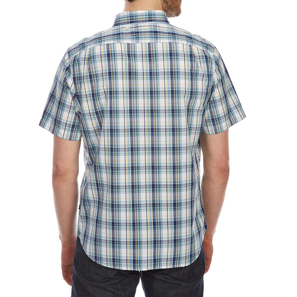 NAUTICA Men's Large Plaid Short-Sleeve Shirt - CAMEO BLUE-4S5