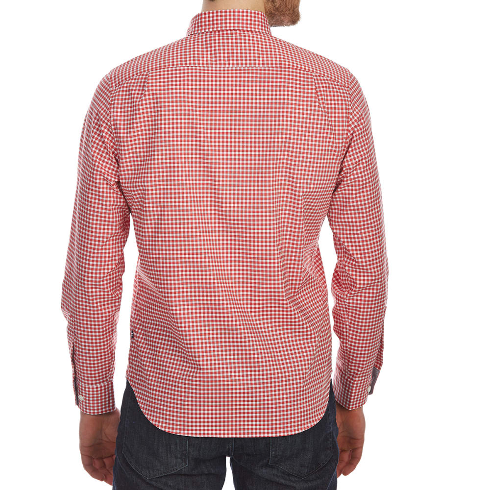 NAUTICA Men's Wear-to-Work Gingham Woven Long-Sleeve Shirt - SAILOR RED-6SR