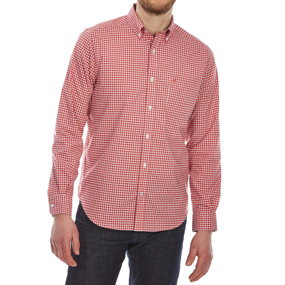 NAUTICA Men's Wear-to-Work Gingham Woven Long-Sleeve Shirt - SAILOR RED-6SR