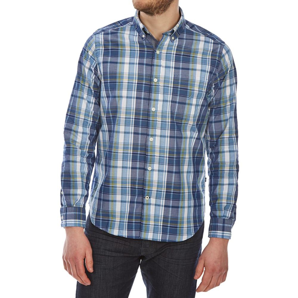 NAUTICA Men's Large Leno Plaid Woven Long-Sleeve Shirt L
