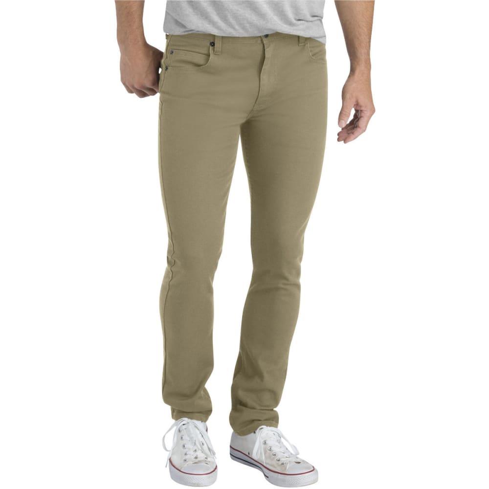 DICKIES Men's Dickies X-Series Slim Fit Skinny Leg 5-Pocket Flex Pant - RNSD BRITISH TAN-RBT