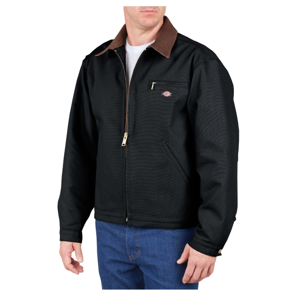 Dickies Men's Duck Blanket Lined Jacket, Extended Sizes - Black, L TALL