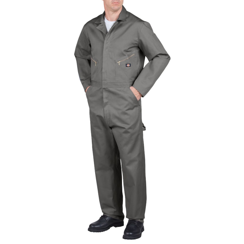 Dickies Men's Deluxe Cotton Coverall, Extended Sizes - Black, S TALL