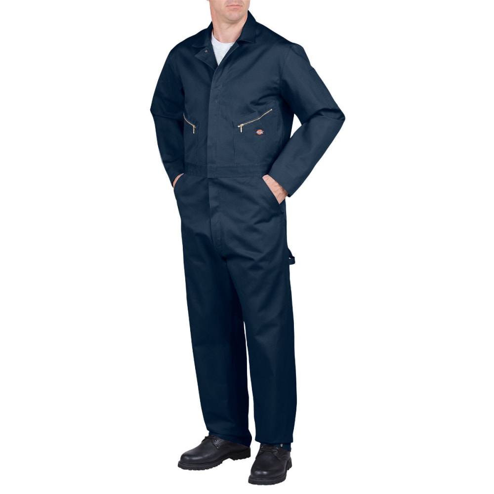 DICKIES Men's Deluxe Cotton Coverall, Extended Sizes - DARK NAVY-DN