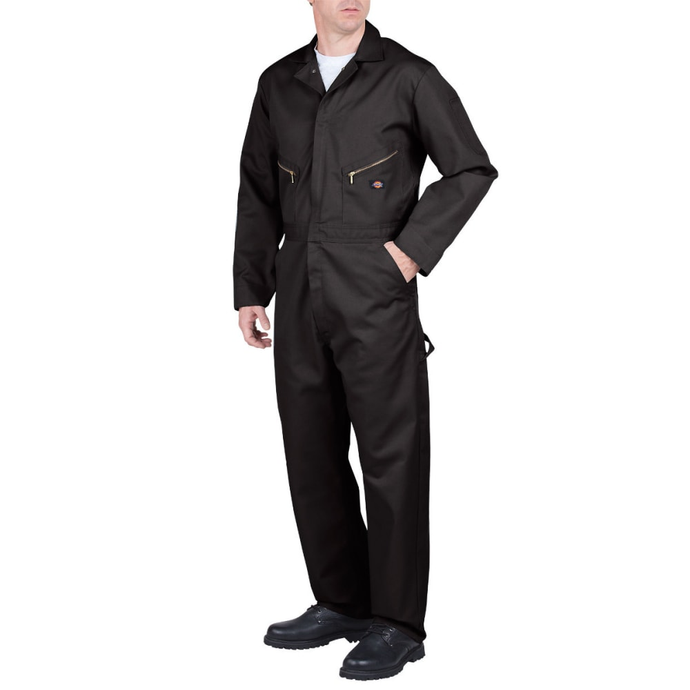 Dickies Men's Deluxe Blended Coverall, Extended Sizes - Black, M TALL