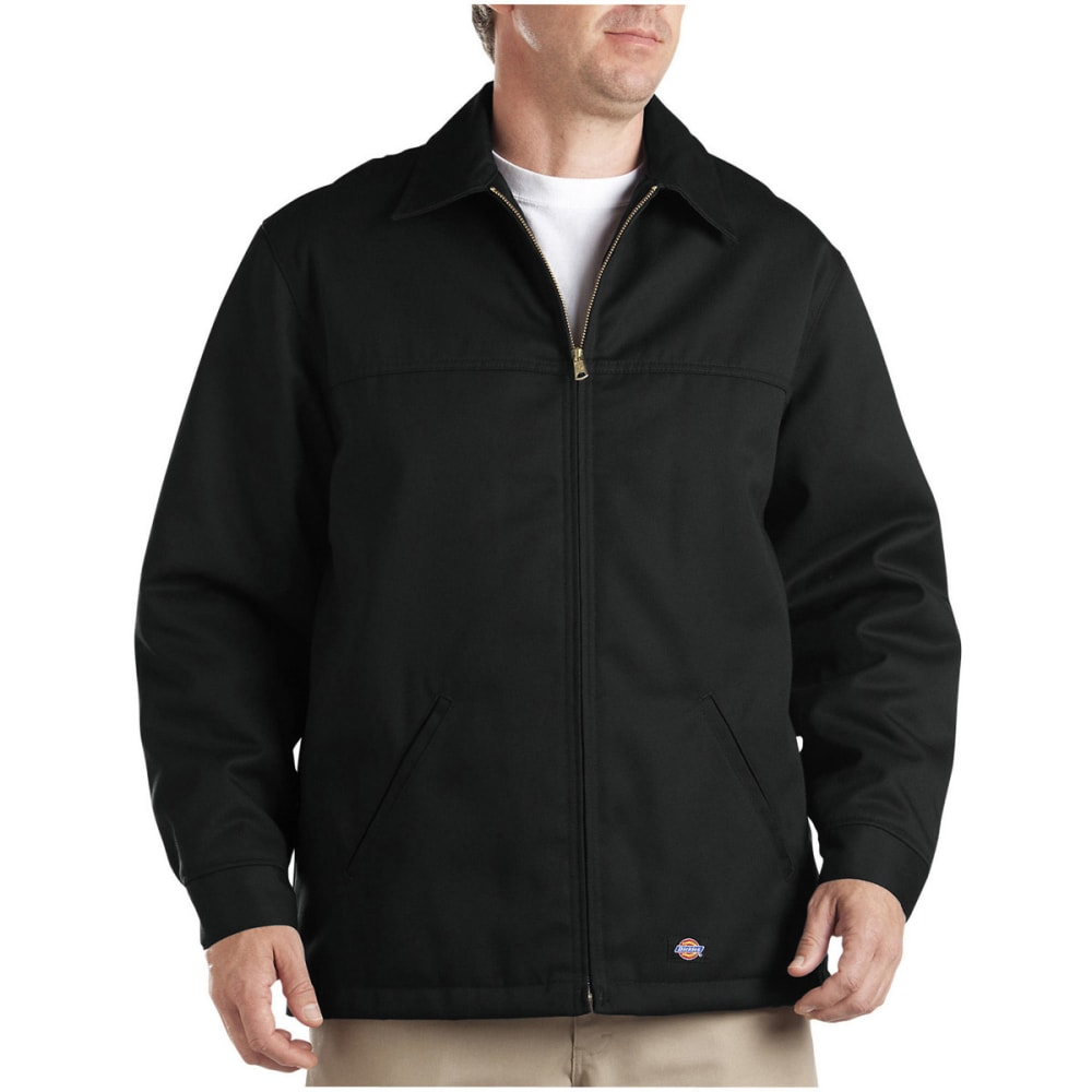 Dickies Men's Hip Length Twill Jacket - Black, S