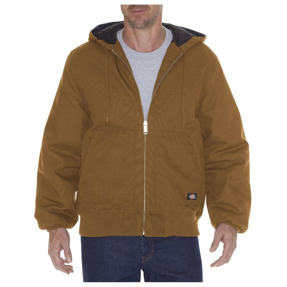 DICKIES Men's Rigid Duck Hooded Jacket - BROWN DUCK-BD
