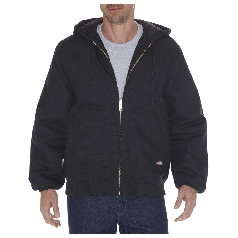 DICKIES Men's Rigid Duck Hooded Jacket, Extended Sizes XL-TALL