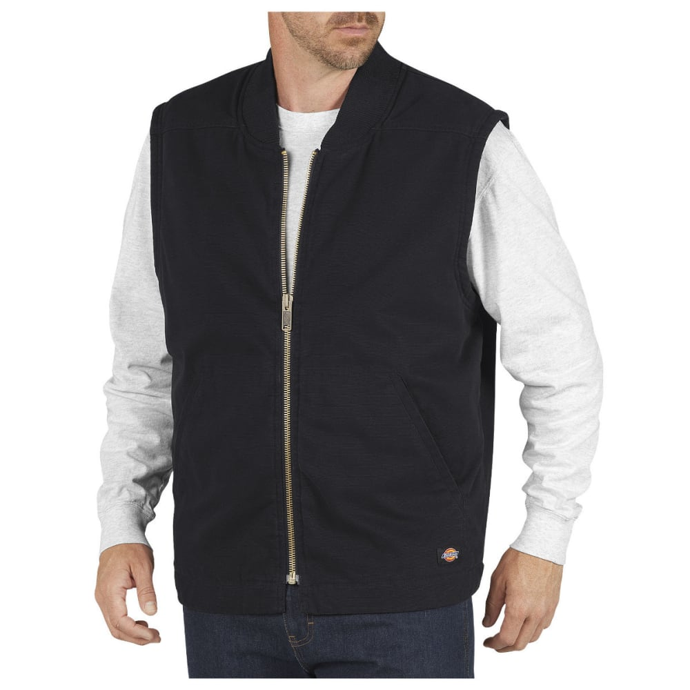 DICKIES Men's Sanded Duck Insulated Vest - RNSD BLACK-RBK