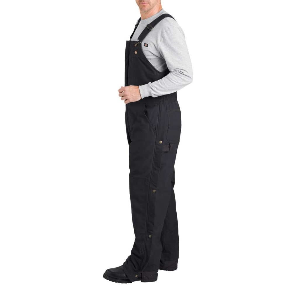 DICKIES Men's Sanded Duck Insulated Bib Overall - BLACK-BK