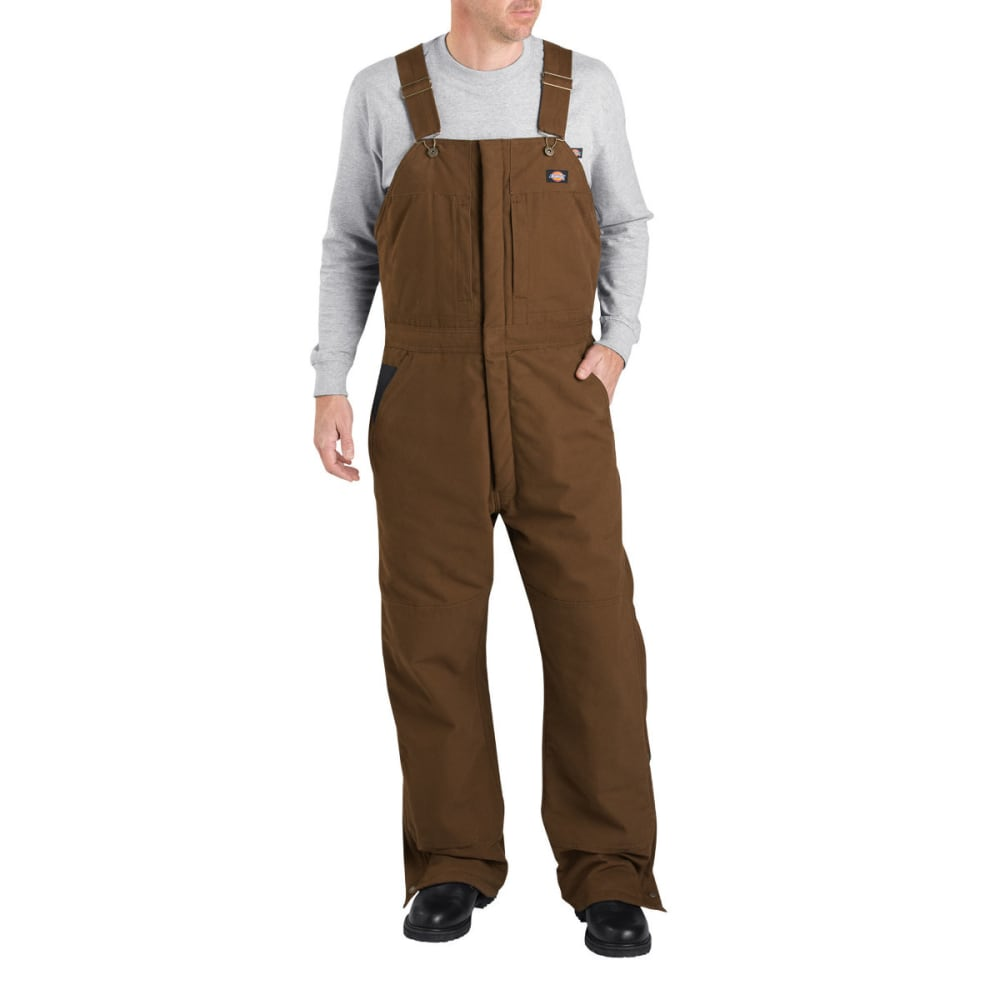 DICKIES Men's Sanded Duck Insulated Bib Overall, Extended Sizes L TALL