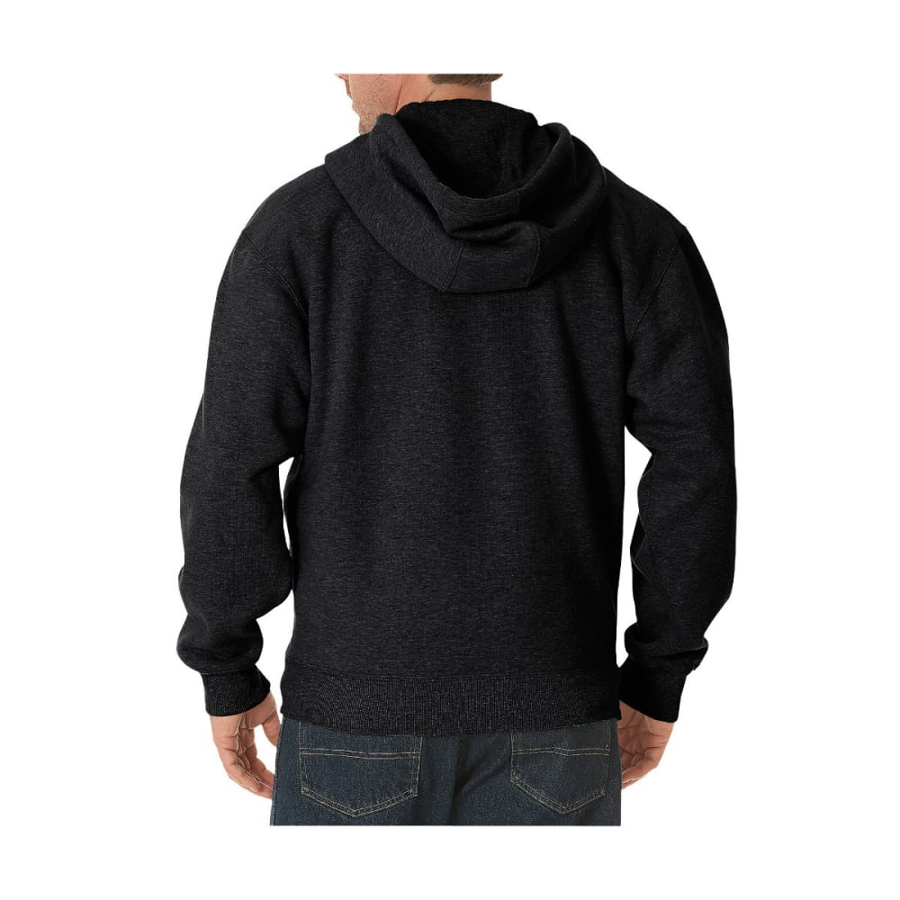 DICKIES Men's Midweight Fleece Full Zip Hoodie, Extended Sizes - BLACK-BK