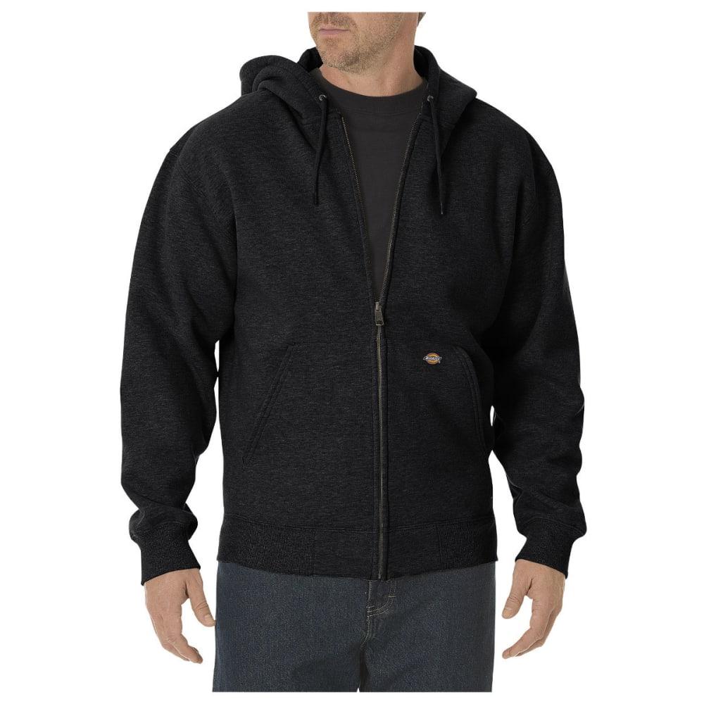 DICKIES Men's Midweight Fleece Full Zip Hoodie, Extended Sizes L TALL