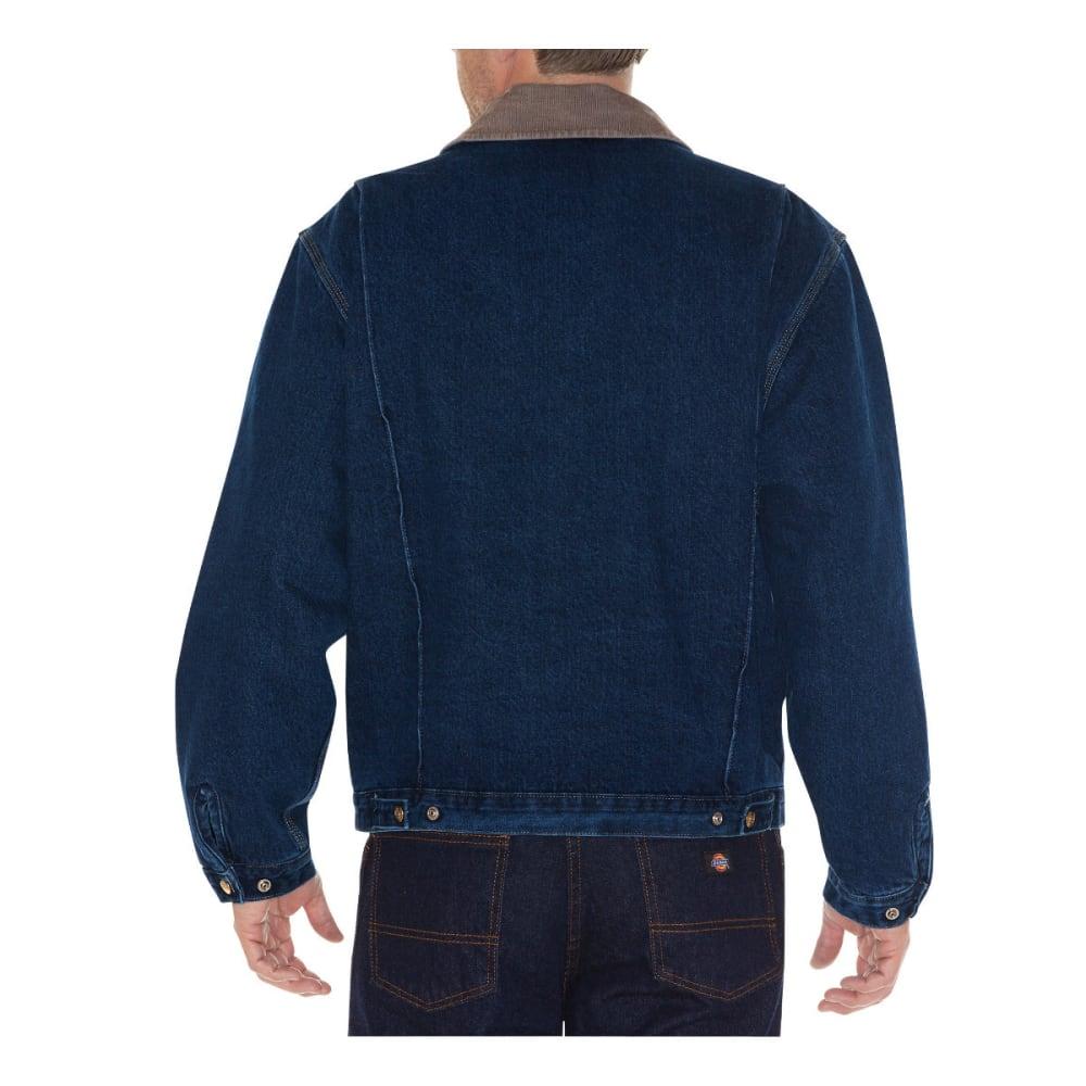 DICKIES Men's Stone Washed Denim Jacket, Stonewashed Dark Indigo - STNWSHD INDIGO- SDD