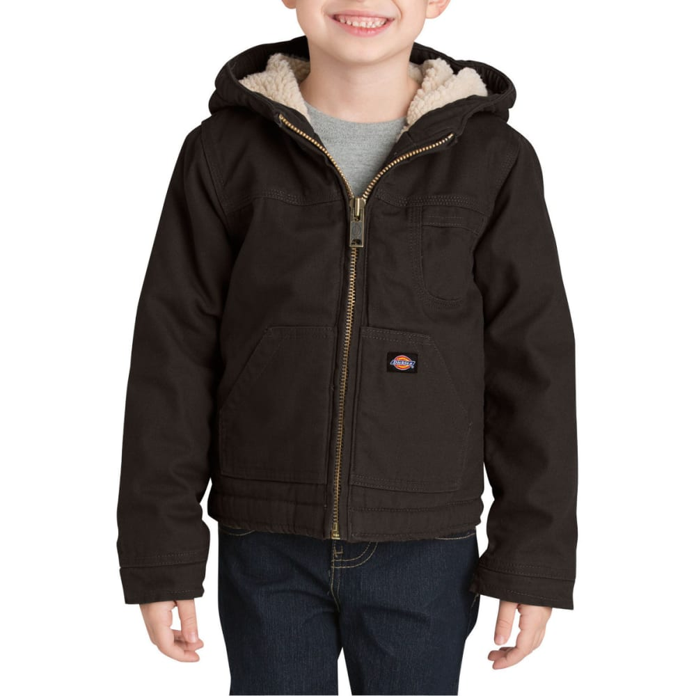 Dickies Boys' 4-7 Sherpa Lined Duck Jacket - Black, S