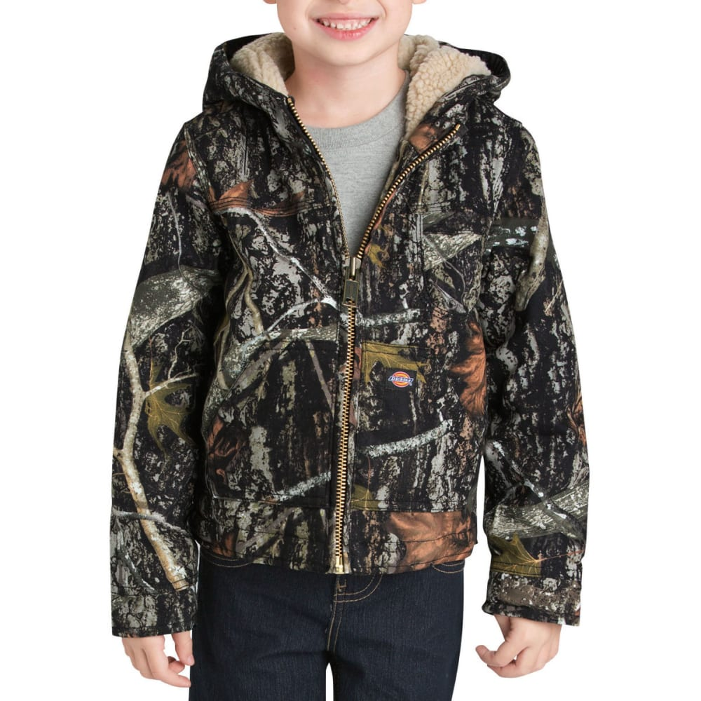 DICKIES Boys' 4-7 Sherpa Lined Duck Jacket - CAMO NEW CONCEAL-CNC