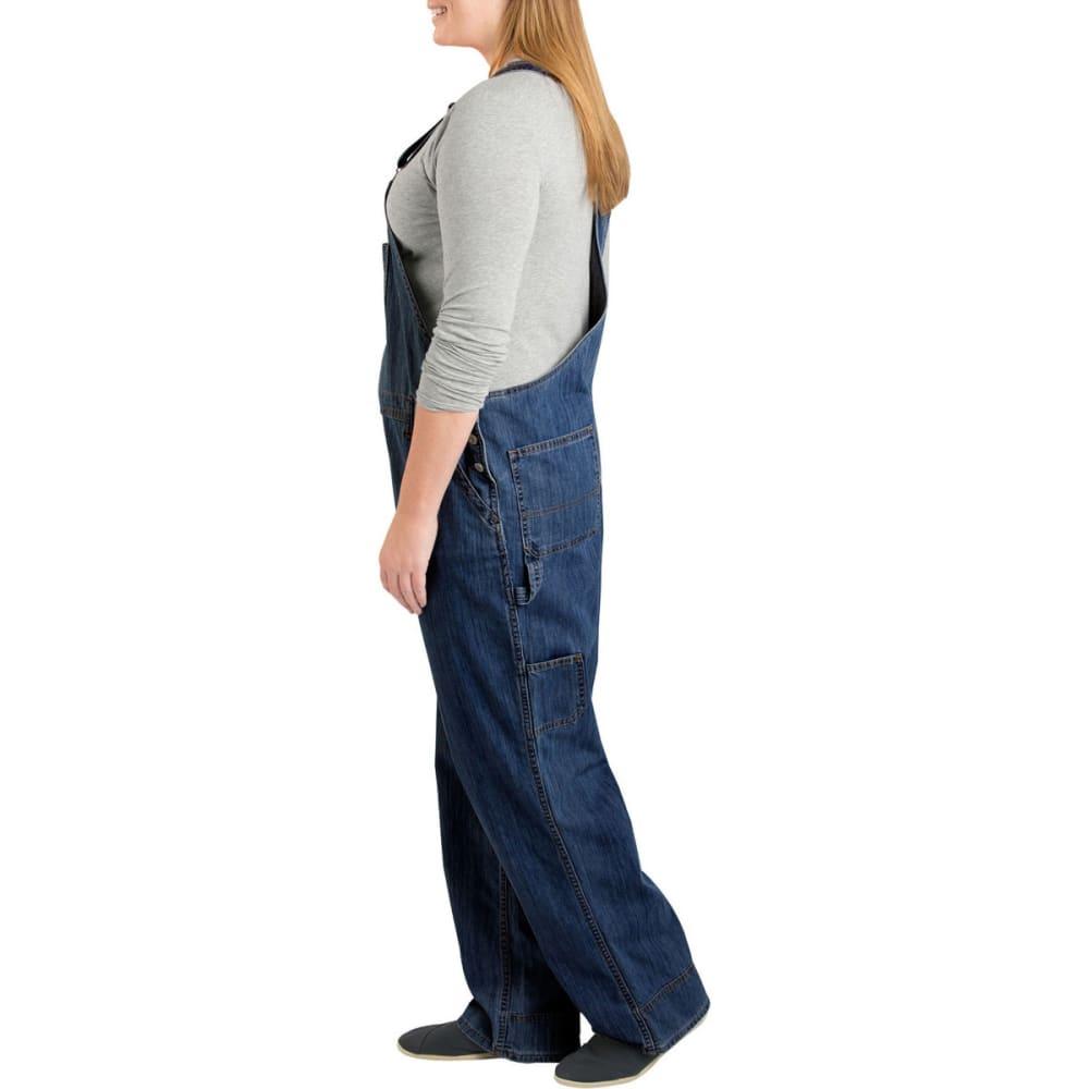 DICKIES Women's Relaxed Fit Straight Leg Bib Overall, Extended Sizes - DK INDIGO BLACK-DIB