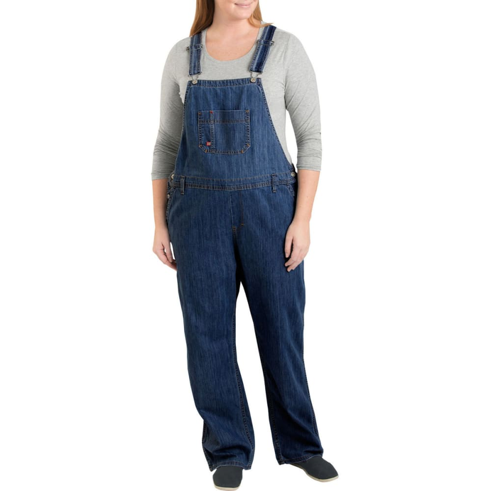 Dickies Women's Relaxed Fit Straight Leg Bib Overall, Extended Sizes - Blue, 16/R