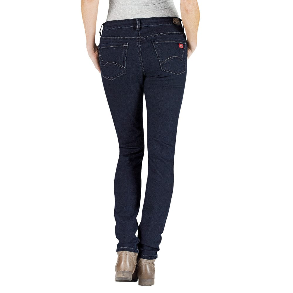 DICKIES Women's Slim Fit Skinny Leg Denim Jean - DK STONE WASH-DSW