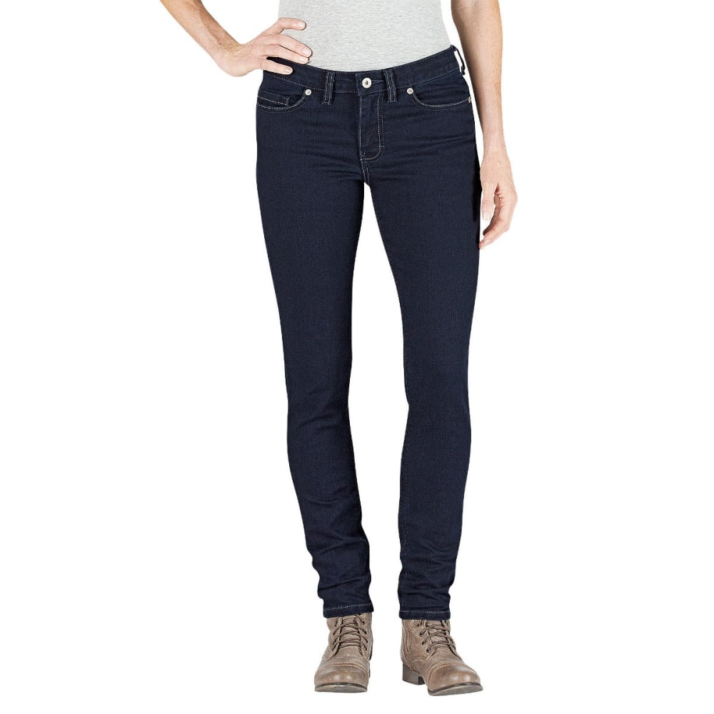 DICKIES Women's Slim Fit Skinny Leg Denim Jean - DK STONE WASH-DSW