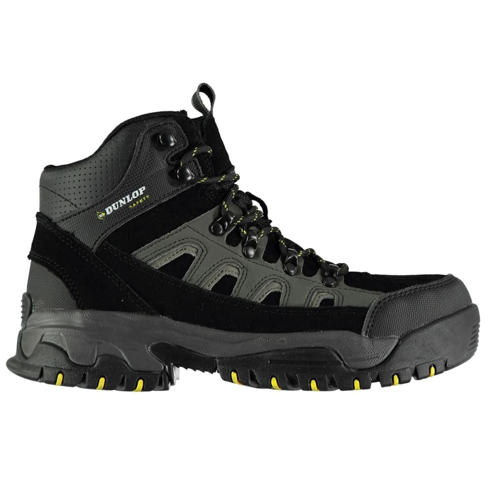 Dunlop Men's Safety Hiker Steel Toe Work Boots - Black, 10