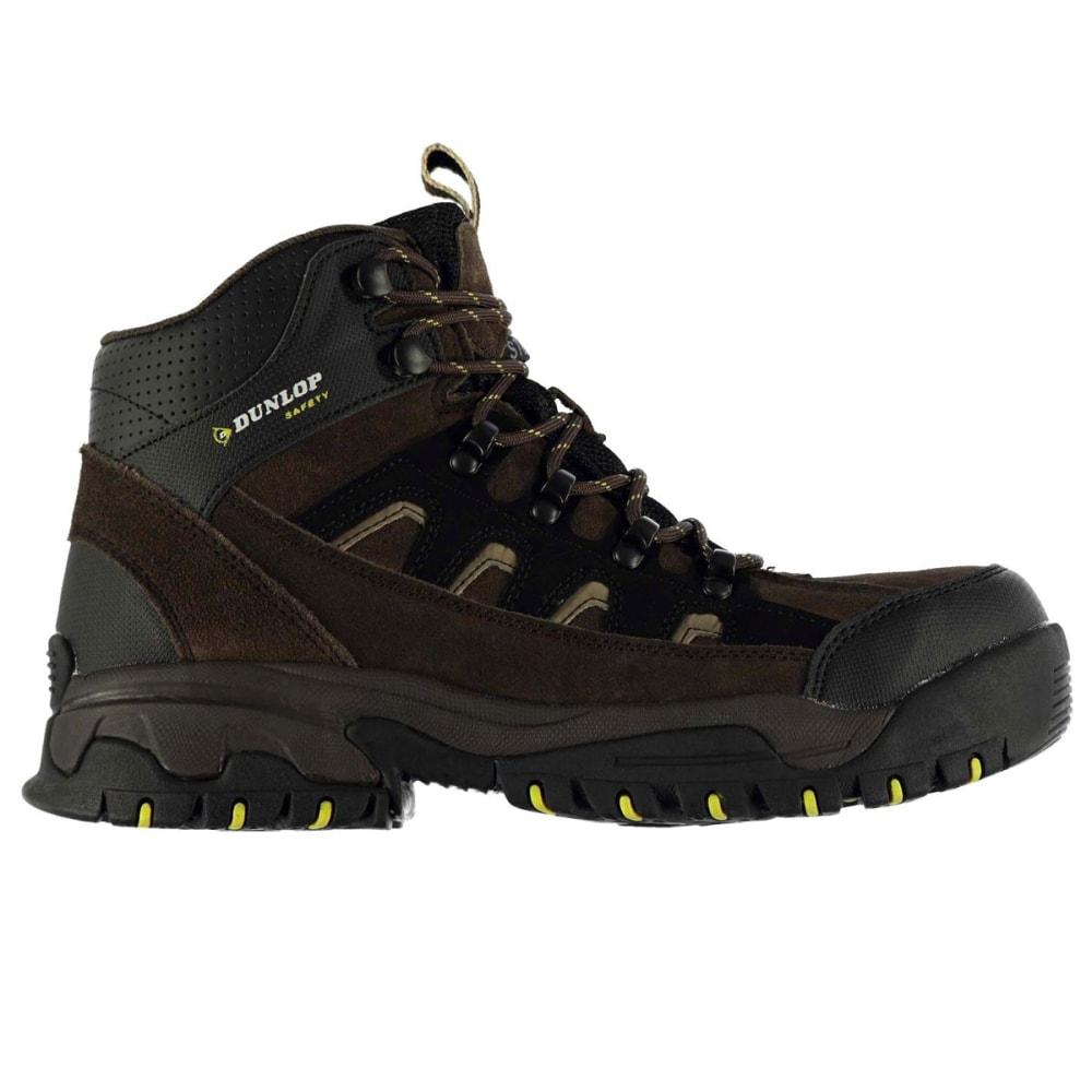 DUNLOP Men's Safety Hiker Steel Toe Work Boots - BROWN