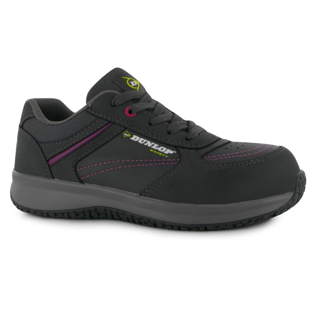 DUNLOP Women's Kirsten Work Shoes - GREY/PINK