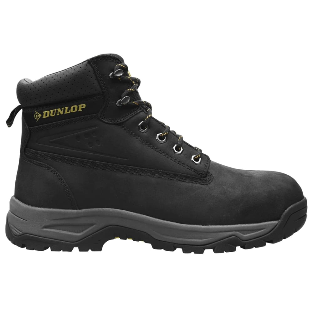 Dunlop Men's Safety On-Site Steel Toe Work Boots - Black, 10