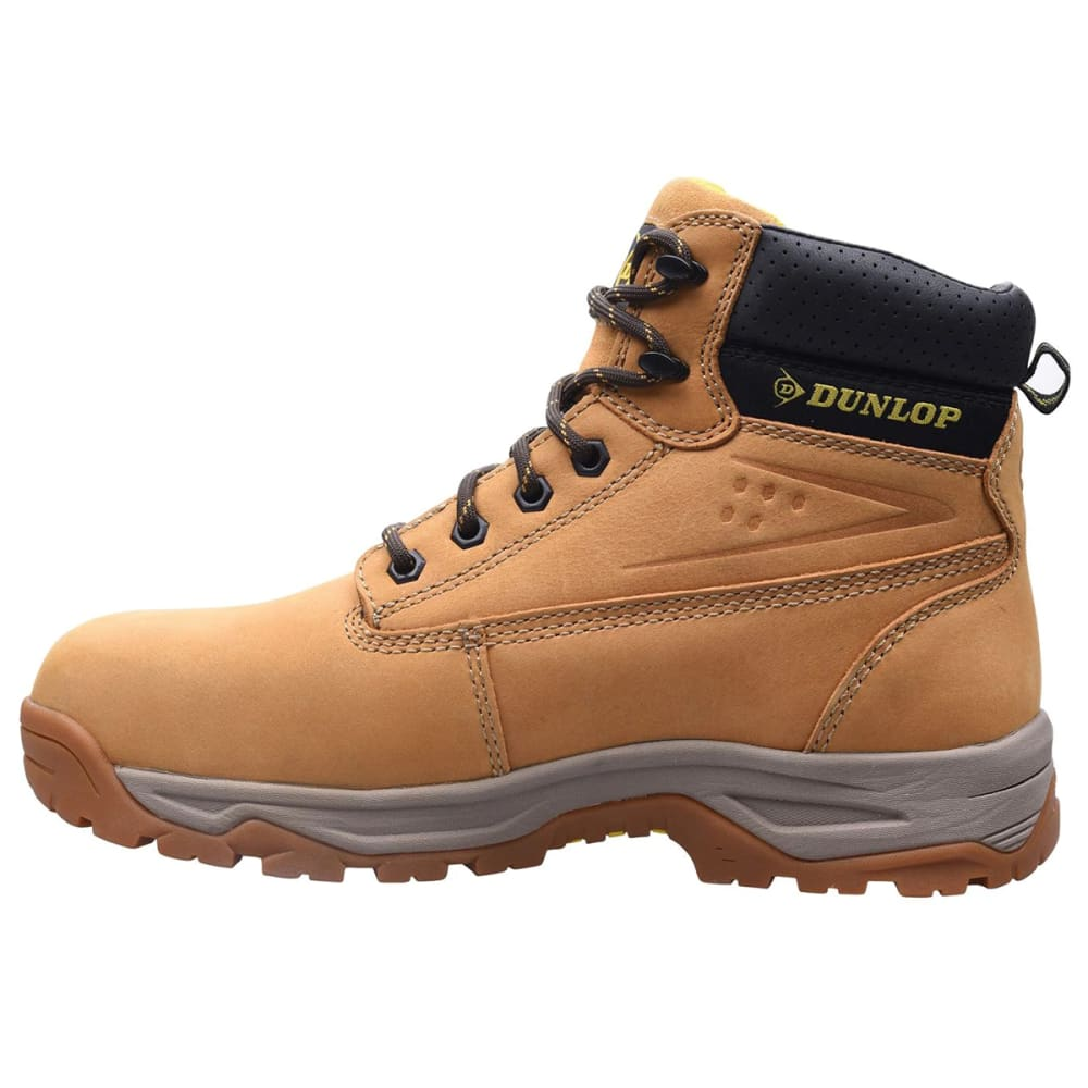 DUNLOP Men's Safety On-Site Steel Toe Work Boots - HONEY