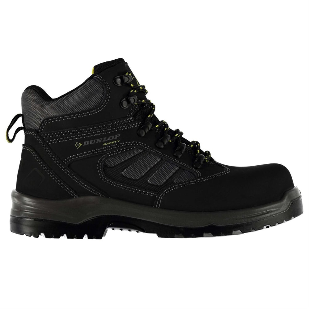 DUNLOP Men's Texas Safety Toe Work Boots - BLACK