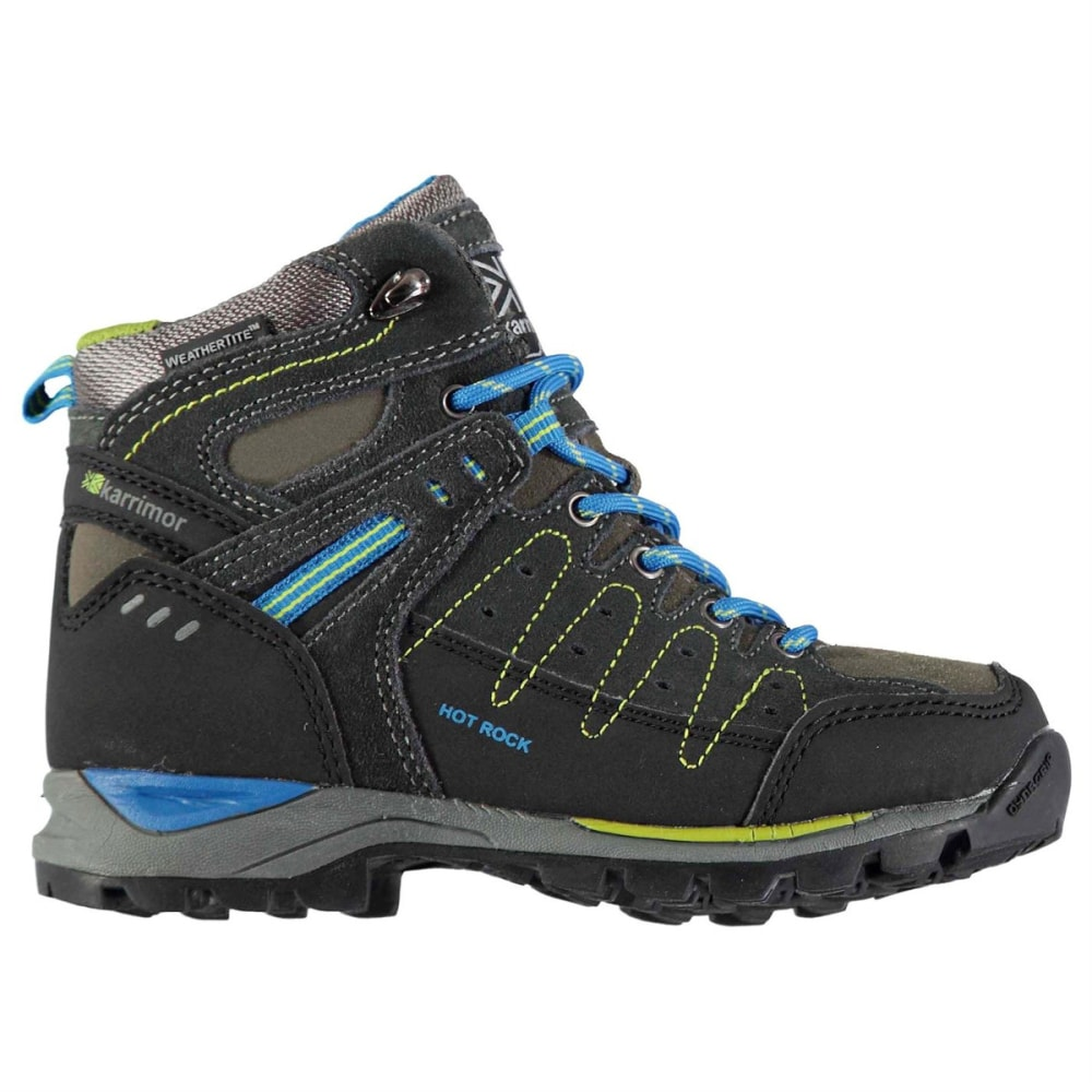 KARRIMOR Little Kids' Hot Rock Waterproof Mid Hiking Boots - CHARCOAL/BLUE