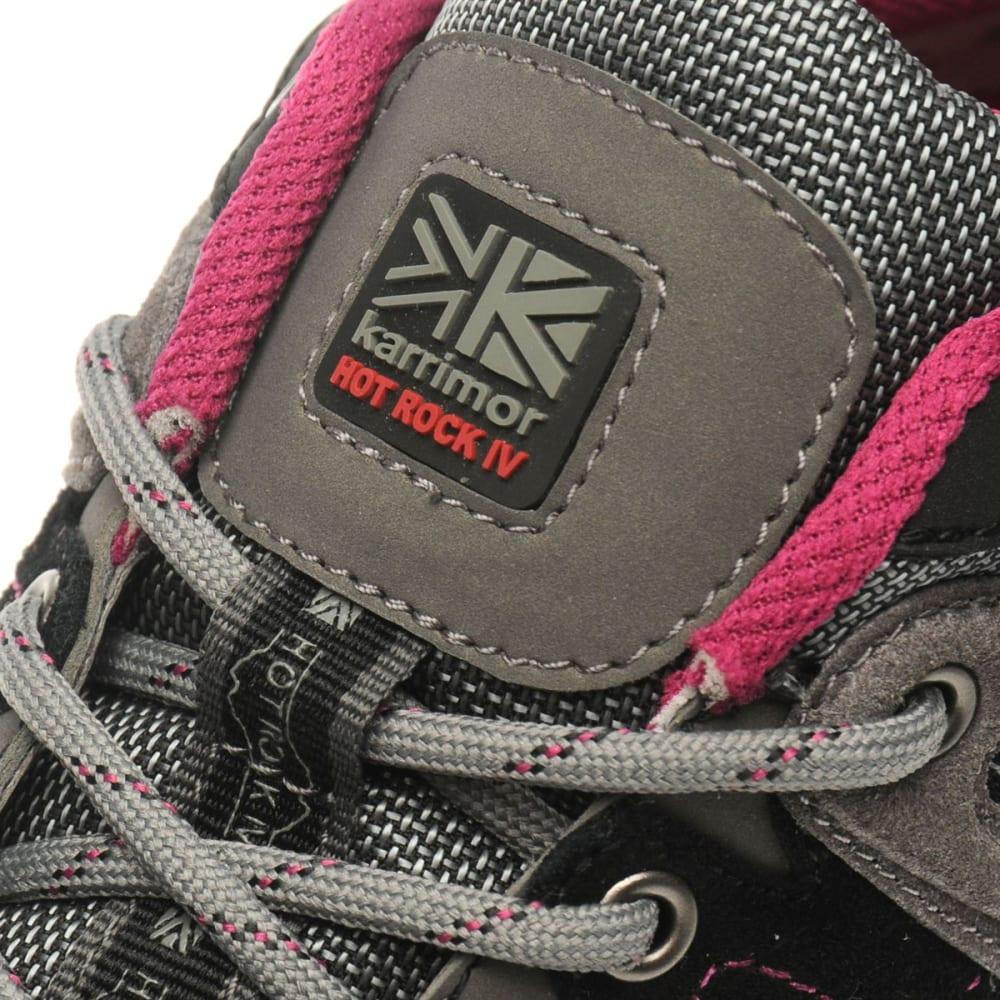 KARRIMOR Women's Hot Rock Waterproof Low Hiking Shoes - CHARCOAL/PURPLE