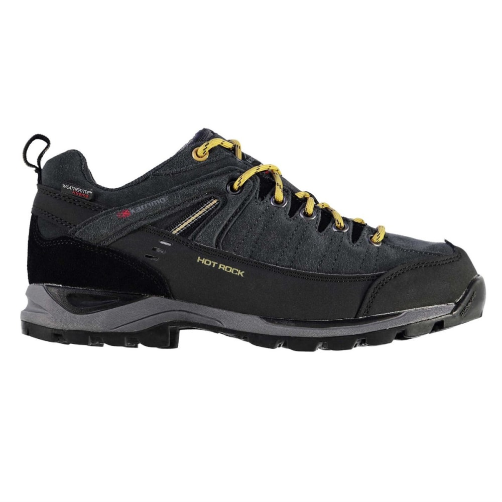KARRIMOR Men's Hot Rock Waterproof Low Hiking Shoes - CHARCOAL/YELLOW
