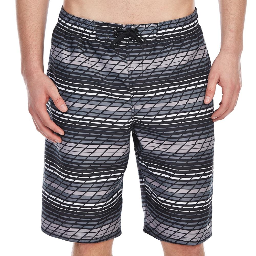 NIKE Men's 11 in. Printed Volley Shorts - BLACK-001