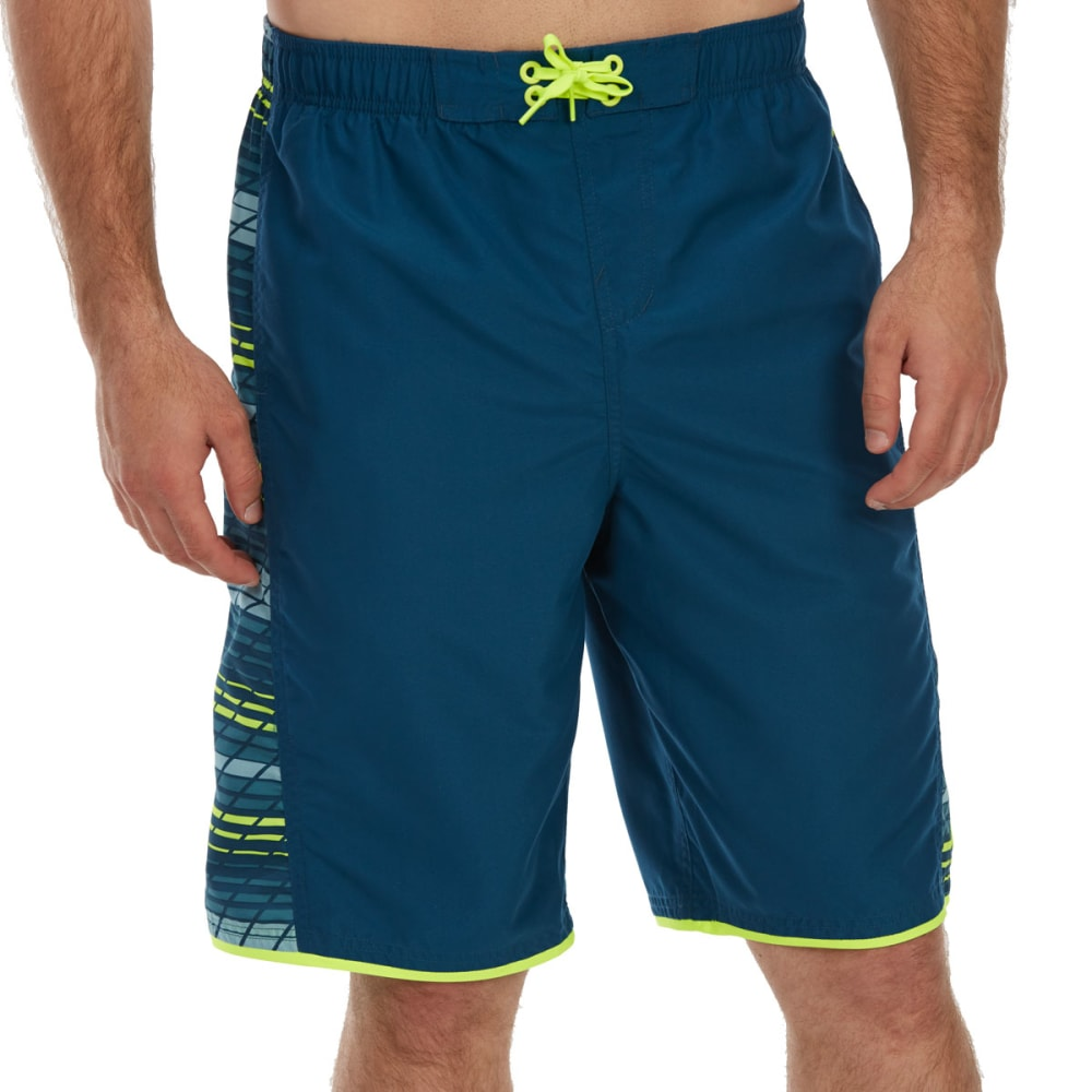 NIKE Men's 11 in. Printed Panel Volley Shorts - BLUE FORCE-403