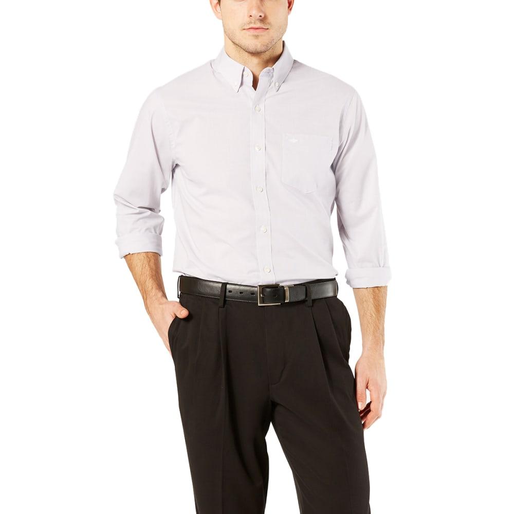 DOCKERS Men's Comfort Stretch No-Wrinkle Long-Sleeve Shirt - FOIL/0001