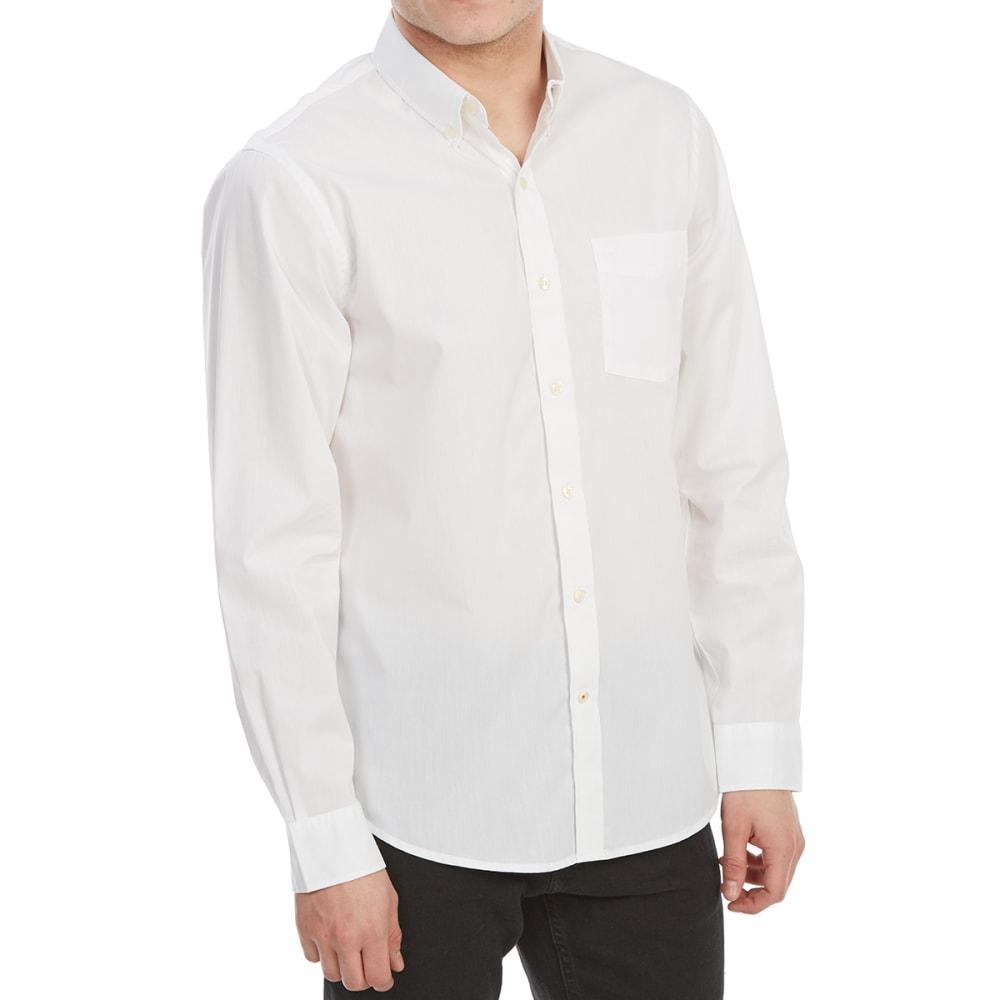 DOCKERS Men's Comfort Stretch No-Wrinkle Long-Sleeve Shirt - PAPERWHITE/0062