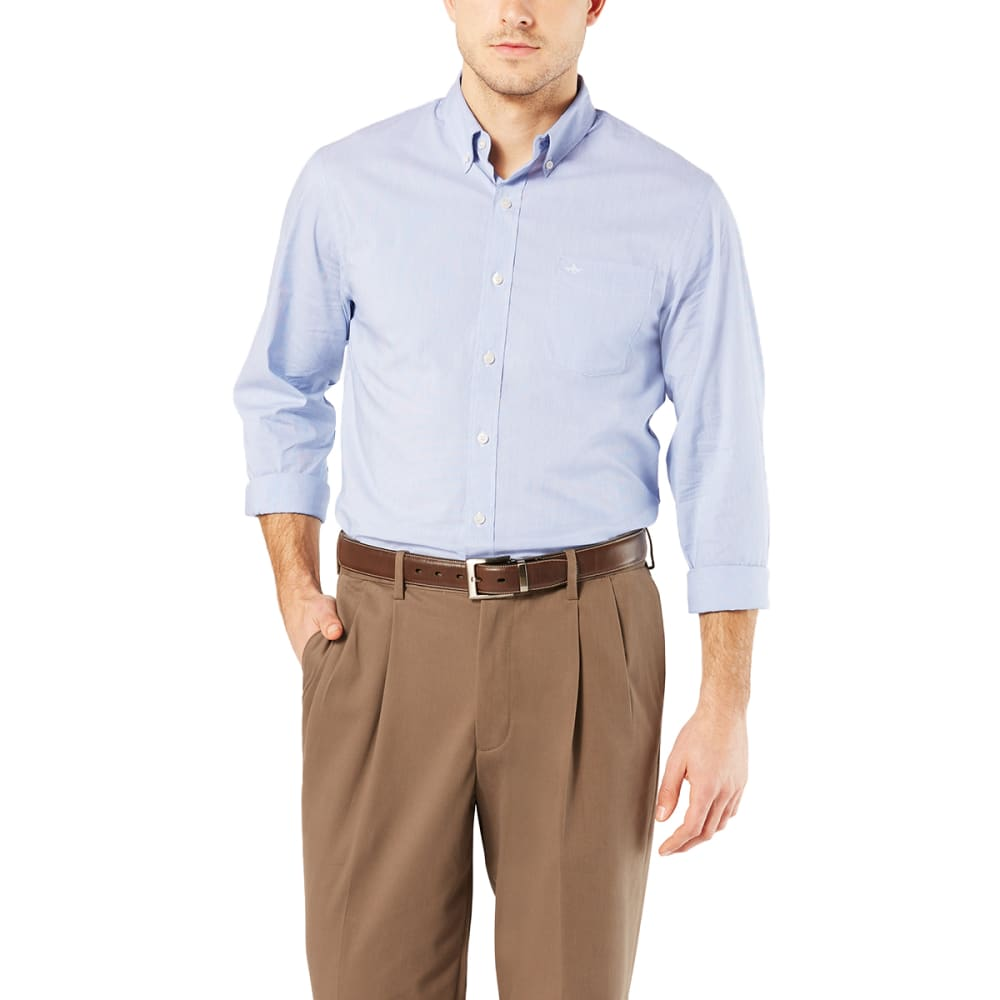 DOCKERS Men's Comfort Stretch No-Wrinkle Long-Sleeve Shirt M