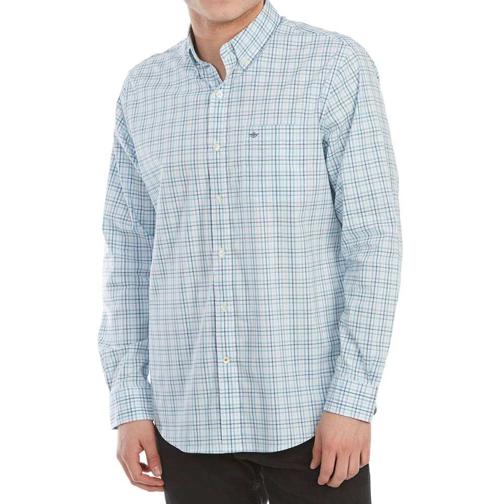 Dockers Men's Comfort Stretch No-Wrinkle Long-Sleeve Shirt - Blue, XL