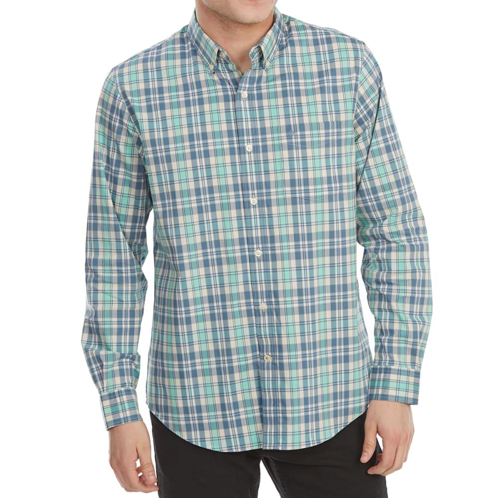 Dockers Men's Comfort Stretch No-Wrinkle Long-Sleeve Shirt - Blue, L