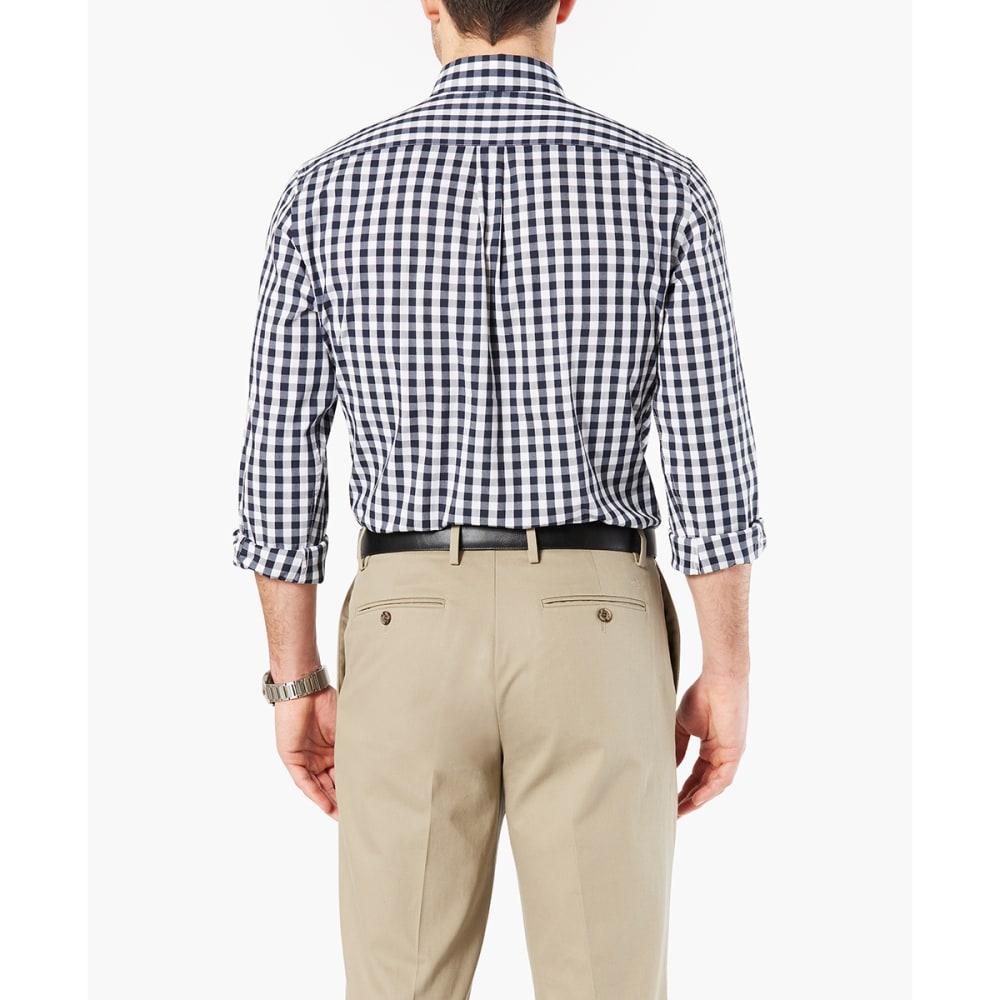 DOCKERS Men's Comfort Stretch No-Wrinkle Long-Sleeve Shirt - PEMBRKE GINGHAM-0011