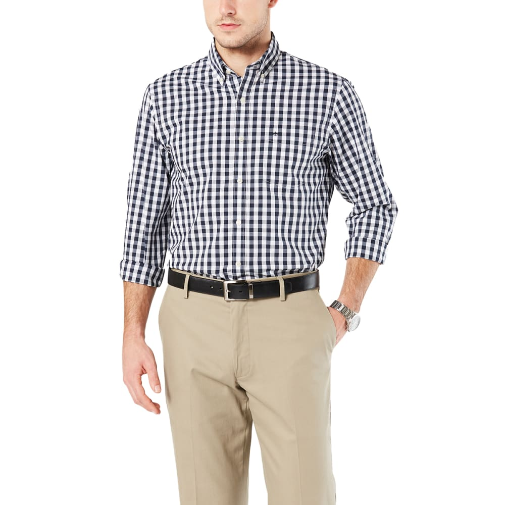 DOCKERS Men's Comfort Stretch No-Wrinkle Long-Sleeve Shirt - PEMBRKE GINGHAM-0011