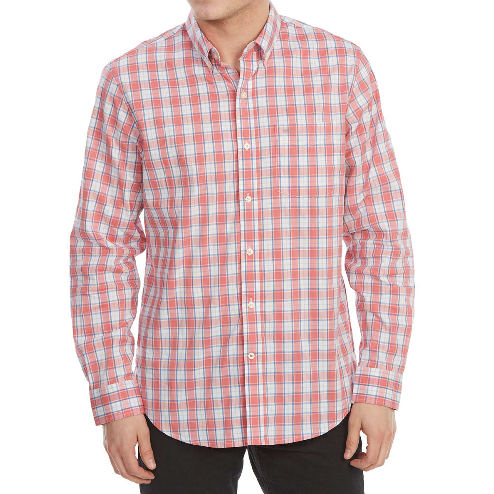 Dockers Men's Comfort Stretch No-Wrinkle Long-Sleeve Shirt - Red, M