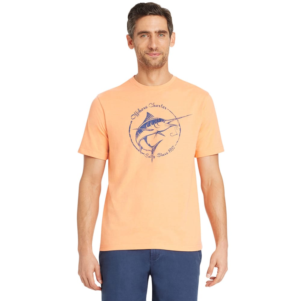 IZOD Men's Salty Swordfish Short-Sleeve Tee - SOUR ORANGE-805