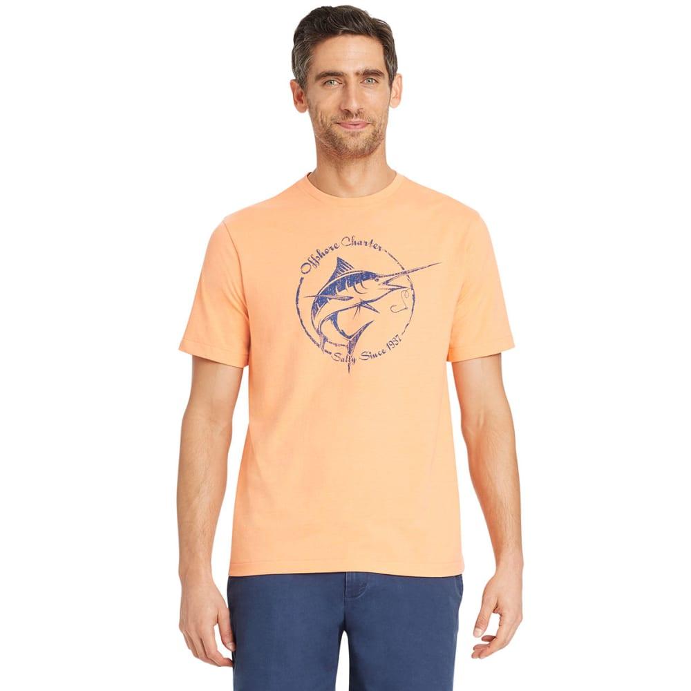 Izod Men's Salty Swordfish Short-Sleeve Tee - Orange, M