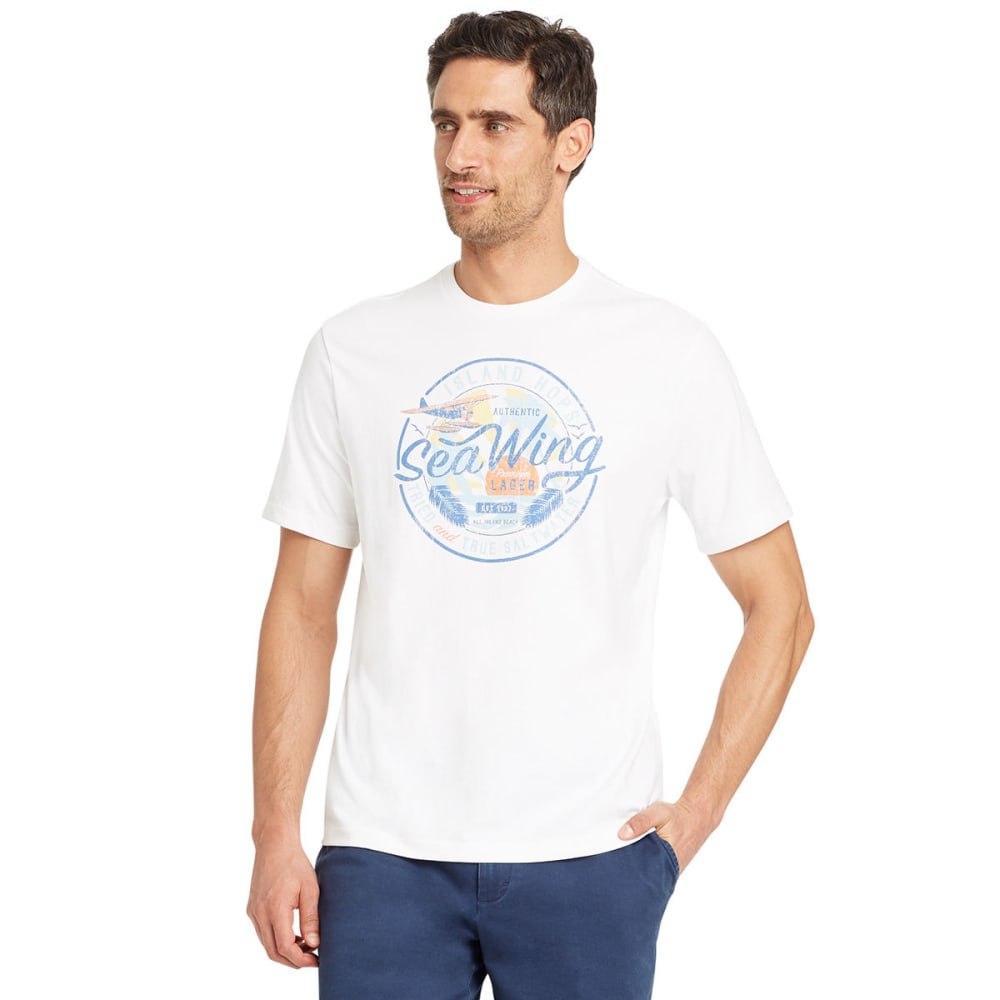 Izod Men's Sea Wing Short-Sleeve Tee - White, M