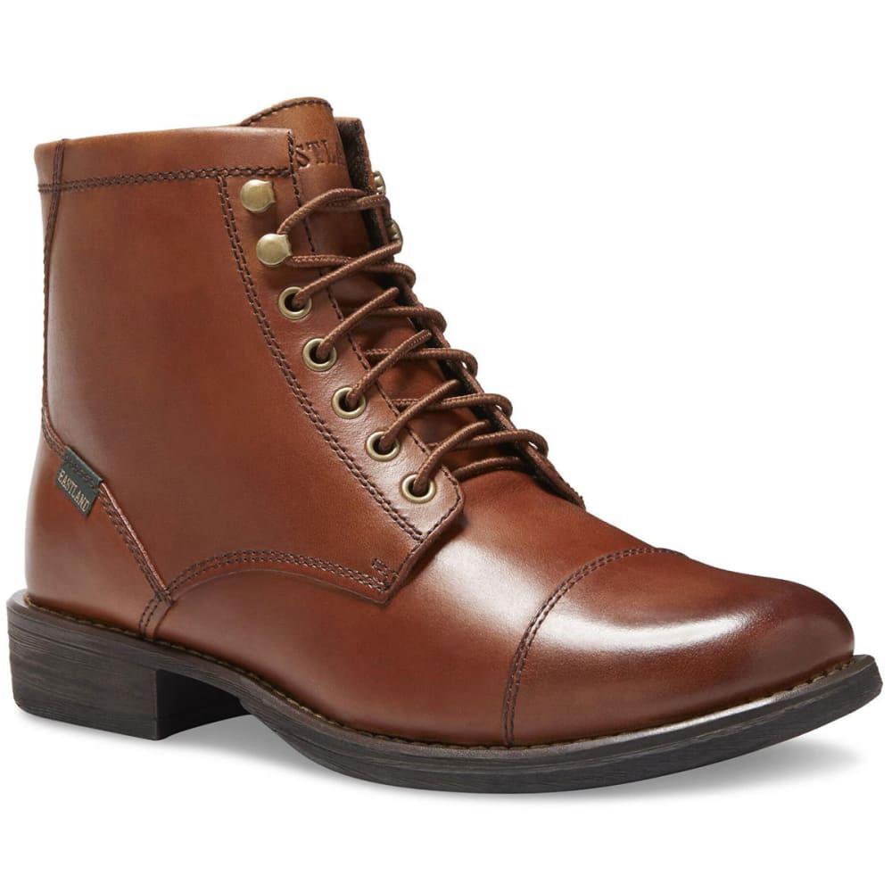 EASTLAND Men's High Fidelity Cap Toe Mid Dress Boots, Tan 9