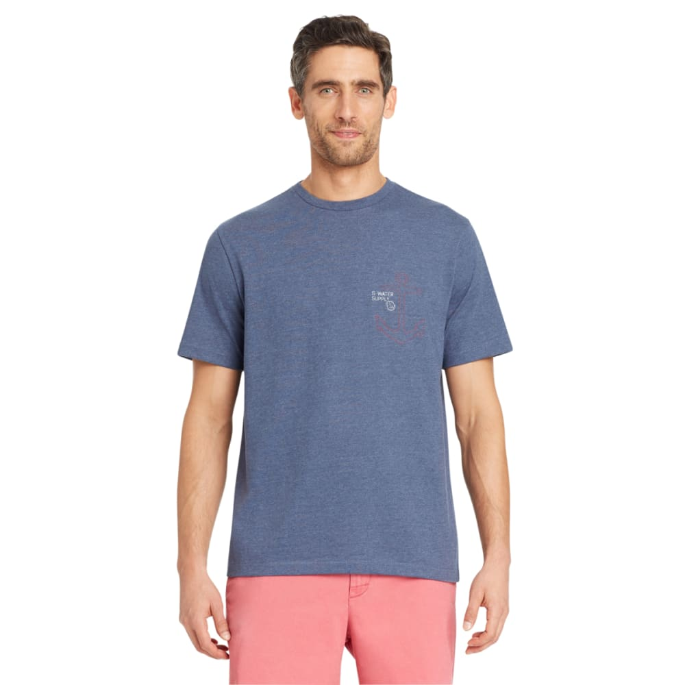 IZOD Men's Back Anchor Coordinates Short-Sleeve Tee - ANCHOR NAVY