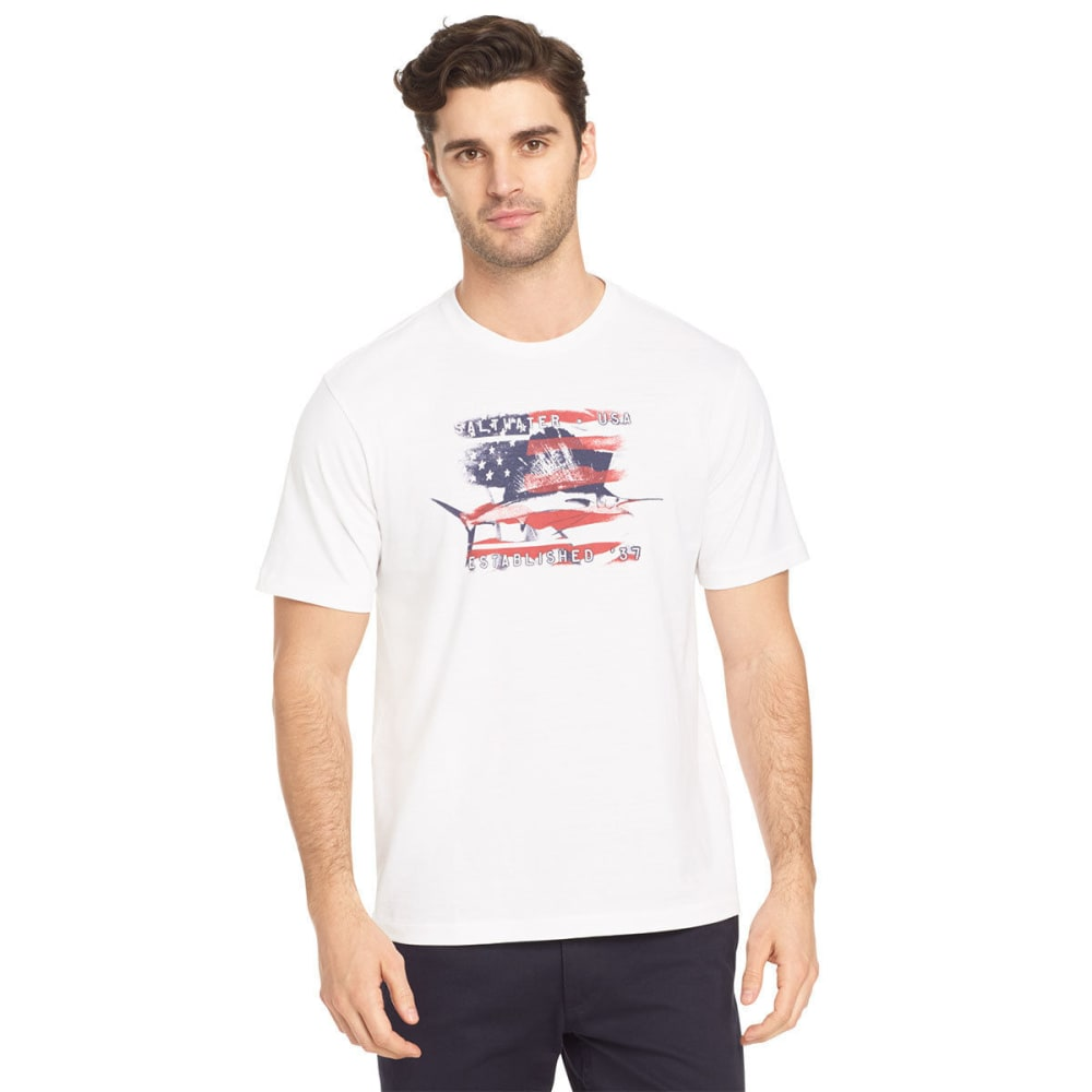 IZOD Men's Sail Fish Saltwater USA Tee - BRIGHT WHITE-101